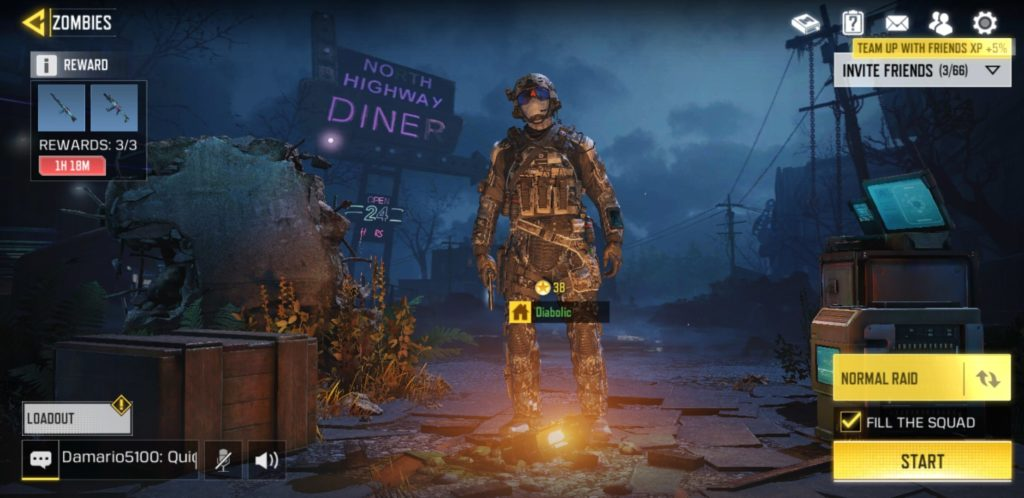 call of duty mobile zombies lobby