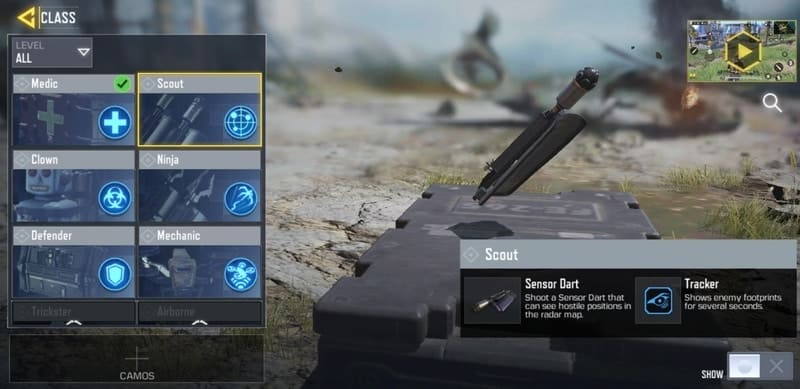 cod mobile scout class