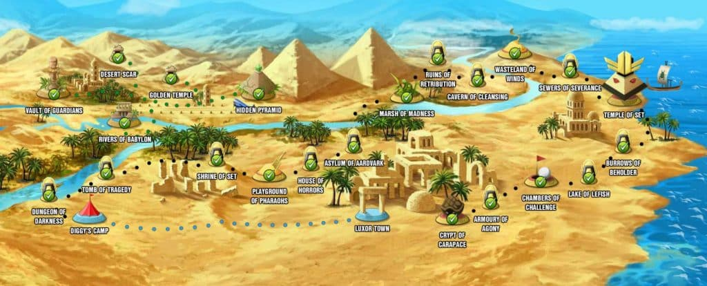 diggy's adventure egypt quests